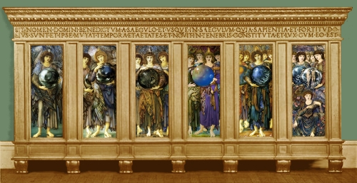 Burne Jones The Days of Creation in original frame ill Sotheby s London 13June1934 Lot99 Harvard Art Museums COLOUR PICS sm