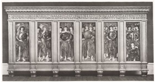 Burne Jones The Days of Creation in original frame ill Sotheby s London 13June1934 Lot99 Harvard Art Museums