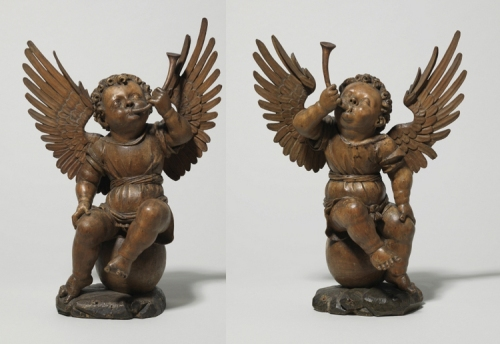 Durer Allerheiligenbild frame Both angels