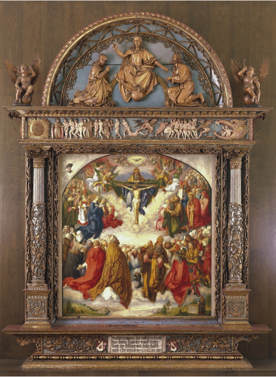Durer Allerheiligenbild frame Germanisches Nationalmuseum Nürnberg with pic