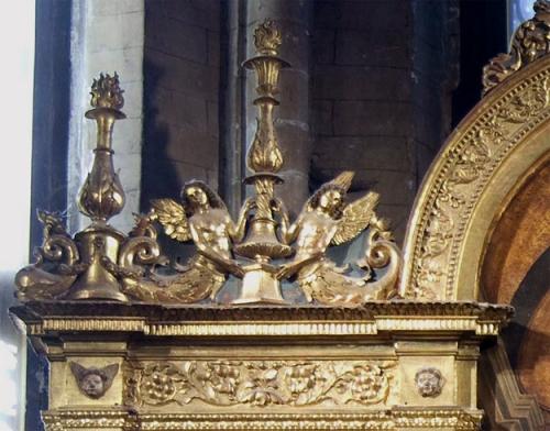 Giovanni Bellini Frafi Triptych 1488 detail