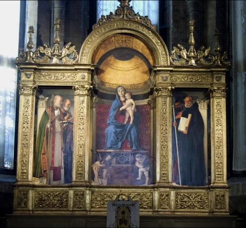 Giovanni Bellini Frafi Triptych 1488