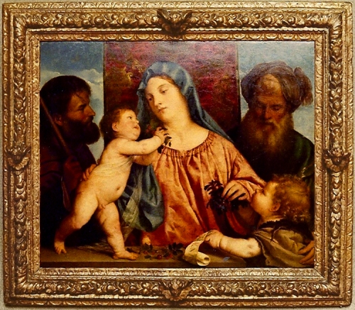 Titian Madonna & Child Kunsthistorischmuseum Whole pic sm