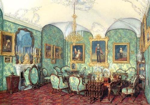 E Gau Cabine3t Gr Duchess Maria Alexandrovna watercolour 1874