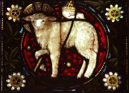Agnus Dei Ch of St John the Baptist Needham Market Suffolk photo by Simon_K