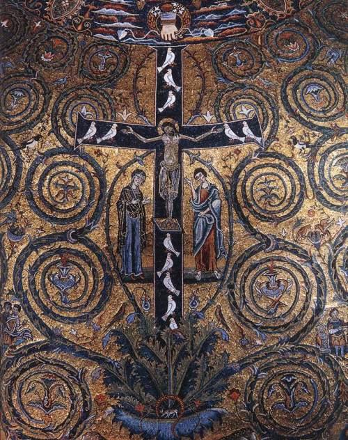 Apse Mosaic St. Clement Basilica 1130s Rome