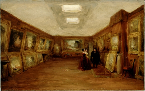 George Jones Interior of Turner s Gallery The artist showing his works Ashmolean sm