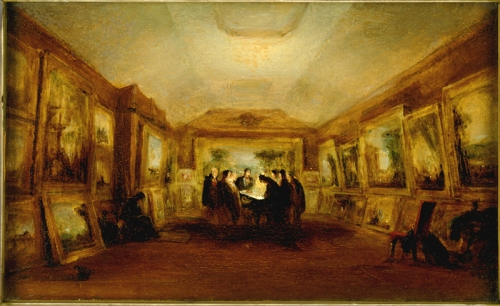 George Jones Turner s body lying in state 29 Dec 1851 Ashmolean sm