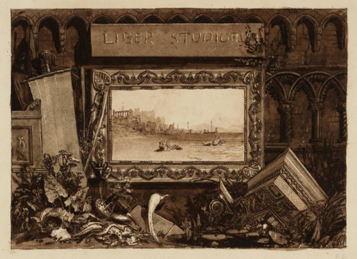 Frontispiece to the 'Liber Studiorum' circa 1810-11 by Joseph Mallord William Turner 1775-1851