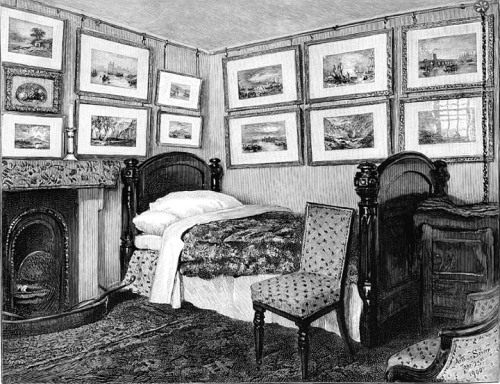 Arthur Severn The interior of Ruskin's bedroom at Brantwood From The Victorian Web