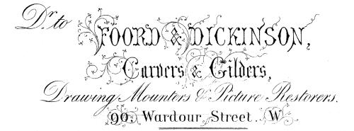 Foord & Dickinson letterhead