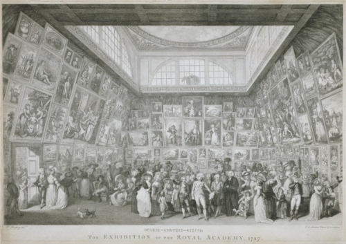 Johann Heinrich Ramberg The Exh of the RA 1787 engr by Pietro Martini