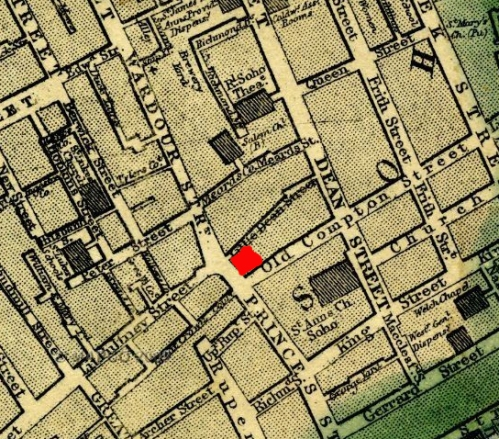 Map London Wardour St DETAIL 1868 MapCoNet