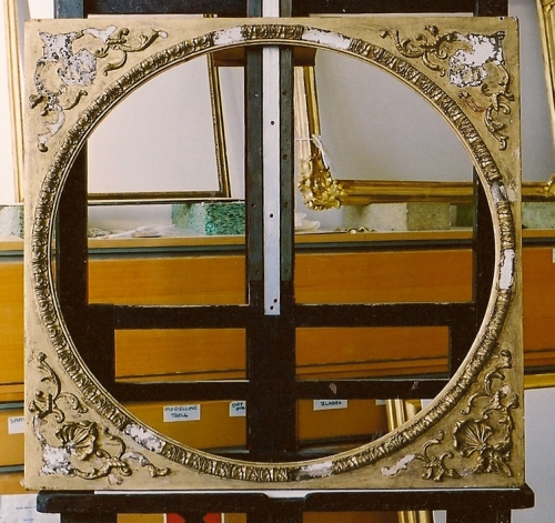 Mount with circular sight & spandrels from a Turner frame