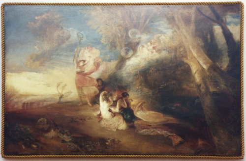 Turner Vision of Medea Tate replica rope frame by Lawrence Gowing sm