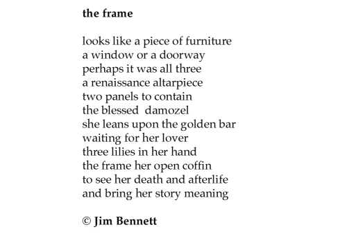 Jim Bennett the frame