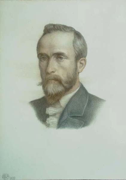 Rossetti Portrait of F R Leyland 1879 col chalks Peter Nahum Gall