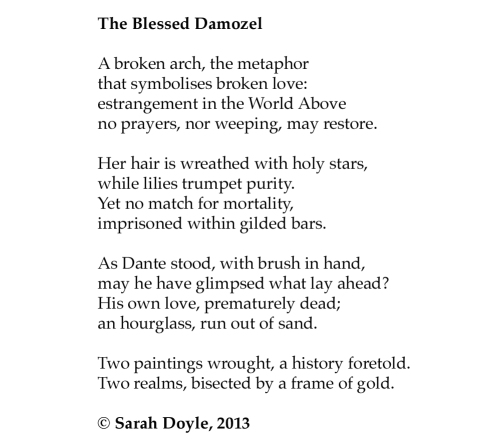 Sarah Doyle The Blessed Damozel