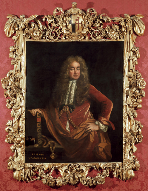 John Riley 1646to91 Elias Ashmole frame by Gibbons Ashmolean