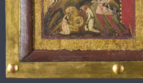 Margharito d'Arezzo Virgin & Child enthroned detail