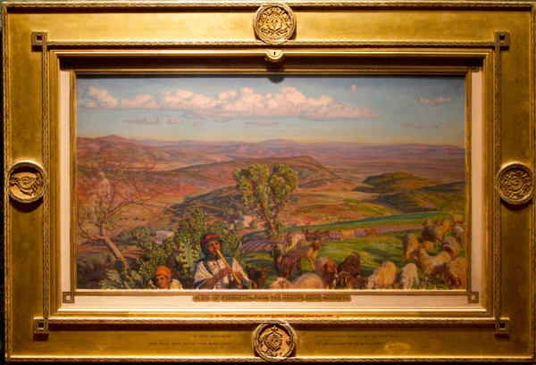 Holman Hunt Plain of Esdraelon from the Heights above Nazareth Ashmolean sm