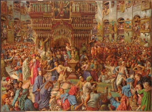 Holman Hunt The Miracle of the Holy Fire 1892-99 Fogg Museum