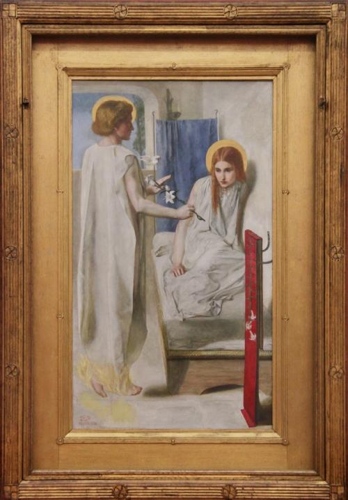 Rossetti Ecce ancilla domini 1850 Tate sm