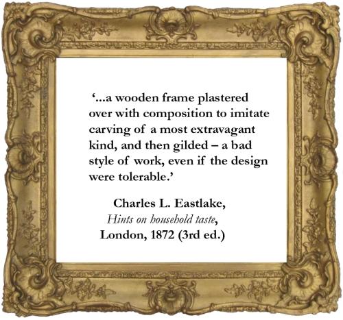 Victorian compo Eastlake quote