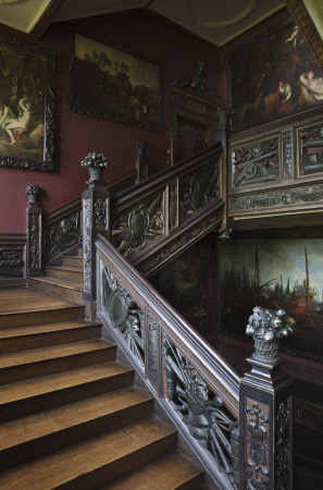 The Great Staircase at Ham House, Richmond-upon-Thames