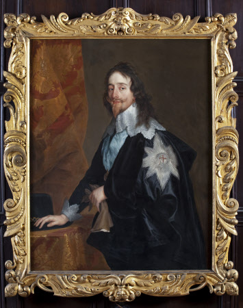 CHARLES I (1600-1649), by Sir Anthony van Dyck (1599-1641)and Studio, in the Long Gallery at Ham House, Richmond-upon-Thames