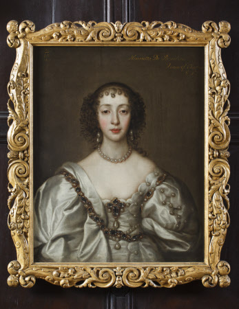 QUEEN HENRIETTA MARIA (1609-69) after Sir Anthony Van Dyck (1599-1641) dated 1637, in the Long Gallery at Ham House, Richmond-upon-Thames