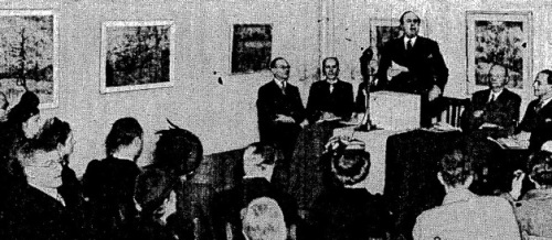 Dutch ambassador opens1947 V G exh The Times