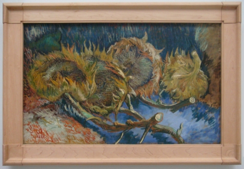 Four cut sunflowers 1887 Kröller Muller Museum Otterlo
