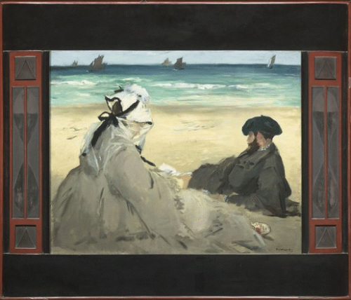 Manet On the beach 1873 Mus d Orsay Museum pic