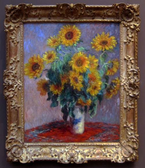 MONET Bouquet of sunflowers 1881 Met Mus NY PhWG sm