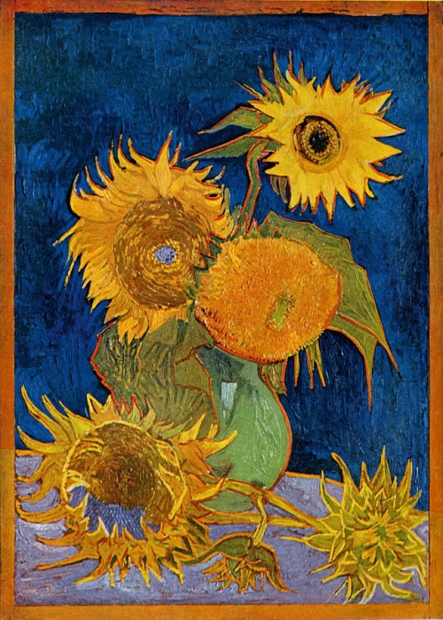 Six Sunflowers 1888 oil on canvas destroyed credit Mushakoji Saneatsu Memorial Mus sm