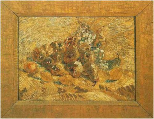 Still life with grapes pears & lemons 1887 Van Gogh Museum