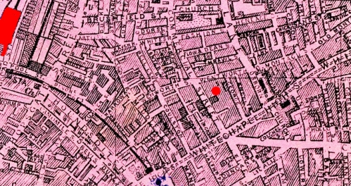 Commercial Street on 1886 map