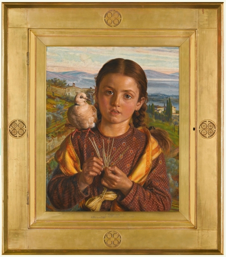 Holman Hunt Tuscan girl Framed pic