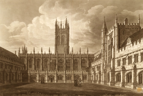 Magdalen College Chapel & Tower Engraved R Reeve 1811 BL