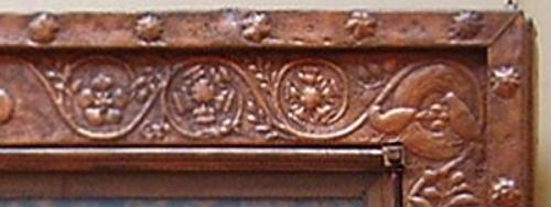 Top right corner of frame