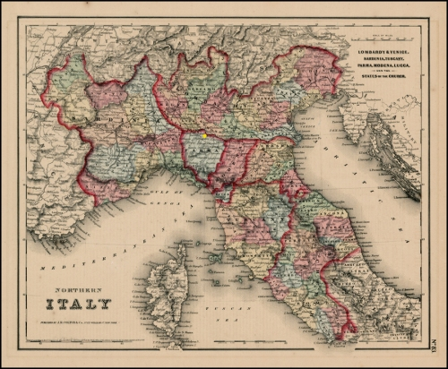 Map Northern Italy sm