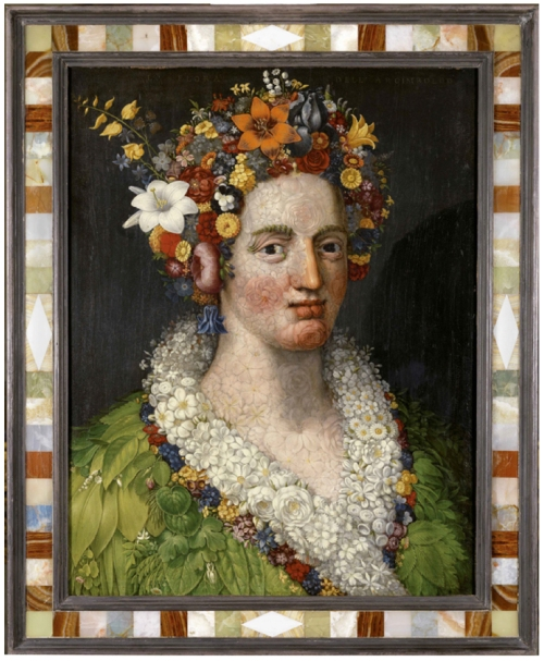 Arcimboldo Flora 1589 Private collection