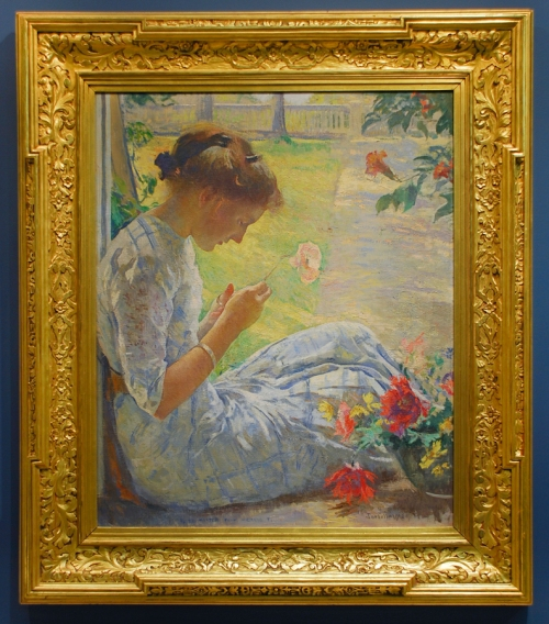 Edmund Tarbell Mercie Cutting Flowers Currier Art Museum sm