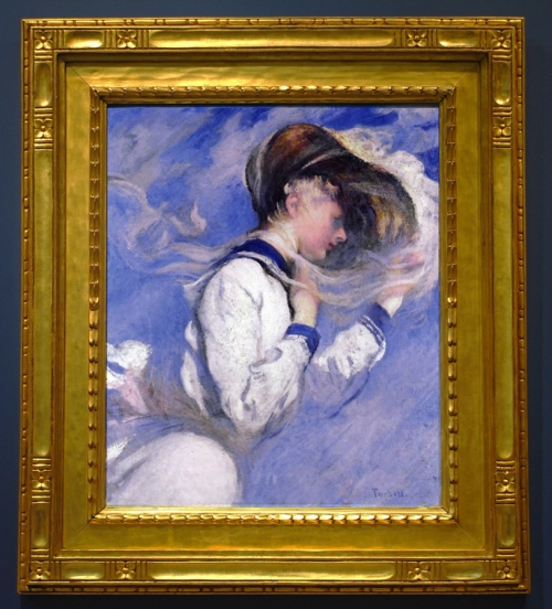 Edmund Tarbell Summer Breeze Currier Museum Carrig Rohane frame sm