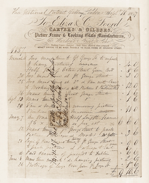 Eliza & C Foord invoice for NPG sm