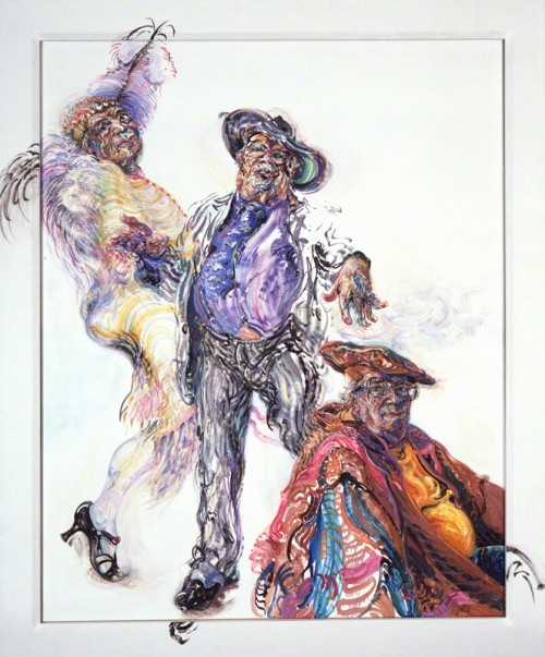 NPG 6439; George Melly by Maggi Hambling