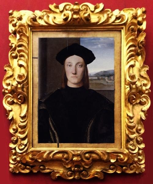 Raphael attrib Portrait of Guidobaldo da Montefeltro sm