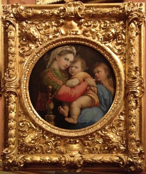 Raphael Madonna della segiola c1513to14 Palazzo Pitti sm