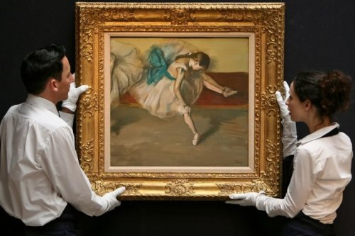 Degas Danseuse au repos in new frame Sotheby s sale3 Nov 2008 NY